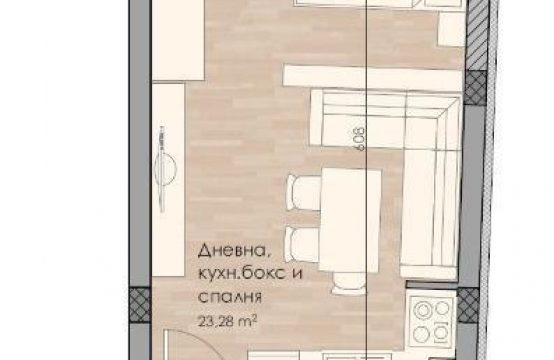 1-стаен 39.82 кв.м